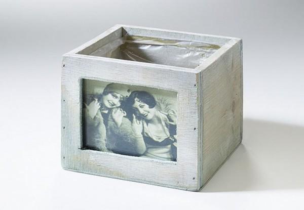 Fotopflanzgefäss aus Holz