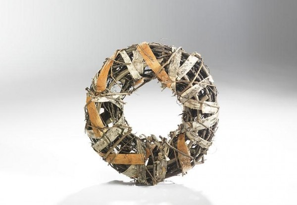 Deko-Ring aus Rattan - Silver