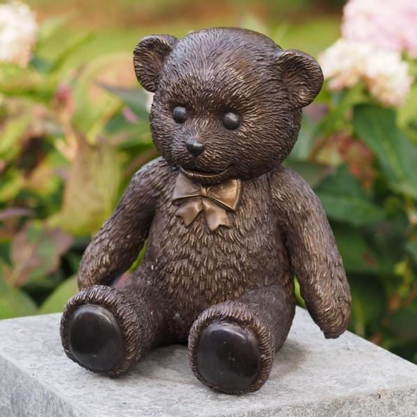 Teddybär-Bronzefigur-Bronzeskulptur