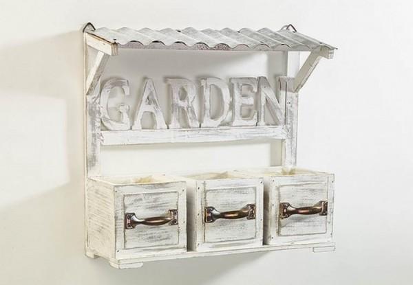 Blumenbank mit 3 Schubladen - Garden