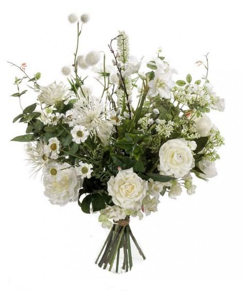 Wild White - Großer Kunstblumenstrauß