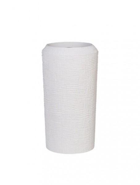 Pflanzsäule Whitestone - Polystone Alexi 50 cm
