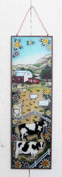 Welcome Wandhänger | Bauernhof Tiffany Glasfenster