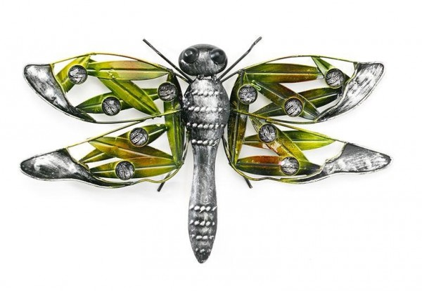 Libelle aus Metall mit Acryl Perlen