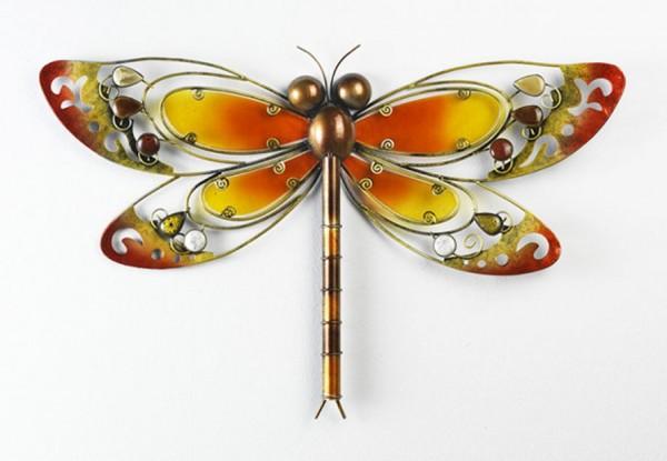 Deko Libelle in Gordy aus Metall und Glas