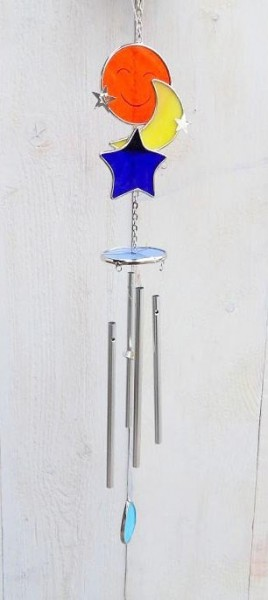 Sonne-Mond-Stern-Motiv-Windspiel-Tiffany-Glas