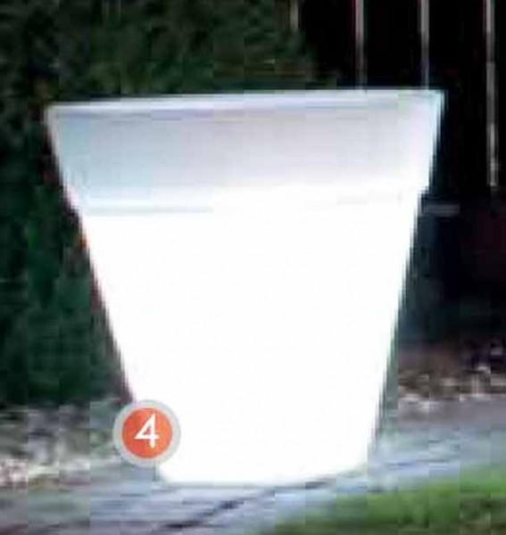 Shining Pot rund | Leucht Pflanzkübel | Die Palme
