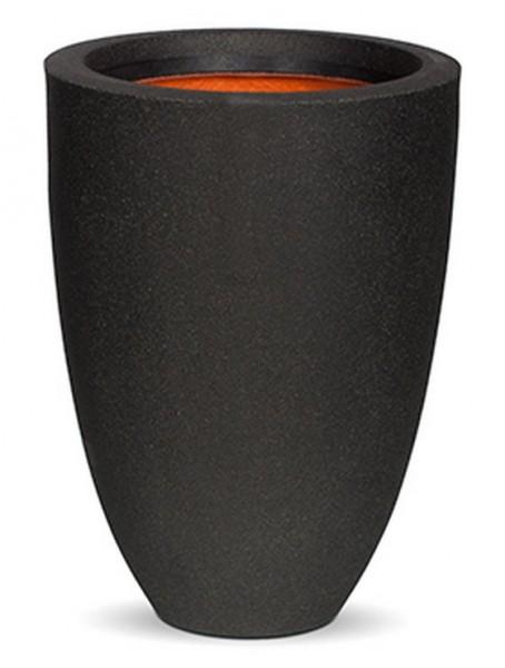Conic-Pflanzvase-Schwarz-Kunststoff-Pflanzkuebel-Capi-Touch
