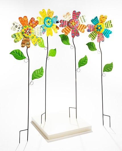 Coloris-Deko-Blume-auf-Stab-aus-Metall