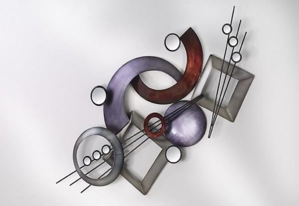 Musicus Wandbild aus Metall