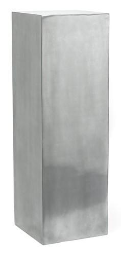 Kunststoff Dekosäule Aluminium | Höhe 100 cm