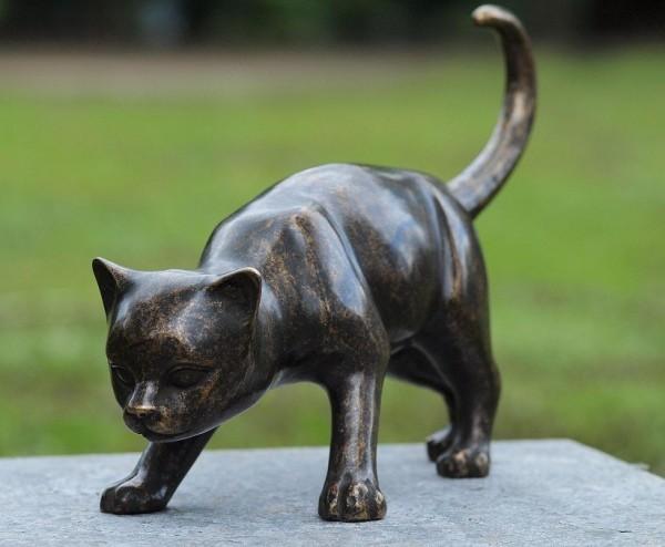 Große Bronze Katze