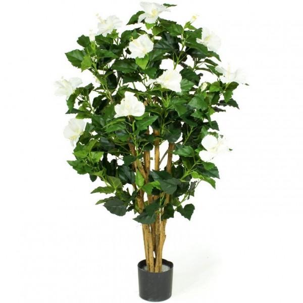 Hibiskus Kunstpflanze weiß 100 cm