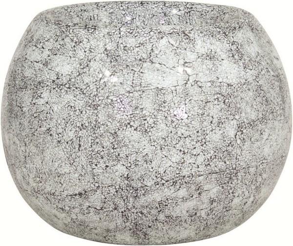 Disco-aqua-Glasmosaik-Pflanzgefäß