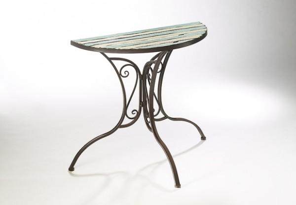 Darklights Halber Tisch aus Metall