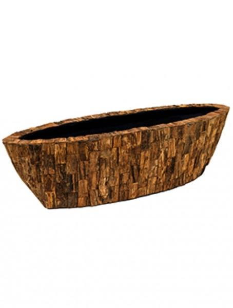 Cemani Wood Design Oval Pflanzschale 70 x 20 x 20 cm