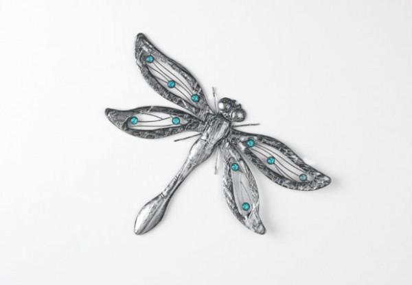 Wandeko Libelle aus Metall und Glas