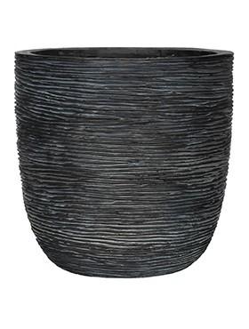 Pflanzkübel Riffel Topf | Capi Nature Otello schwarz