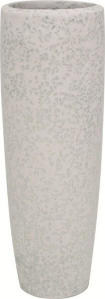 Glitter-weiss-Polystone-Pflanzvase-59cm
