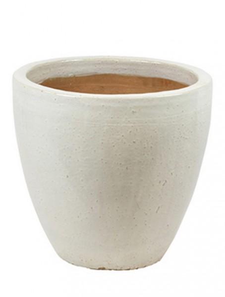 Casa Keramikkübel weiß 43 cm