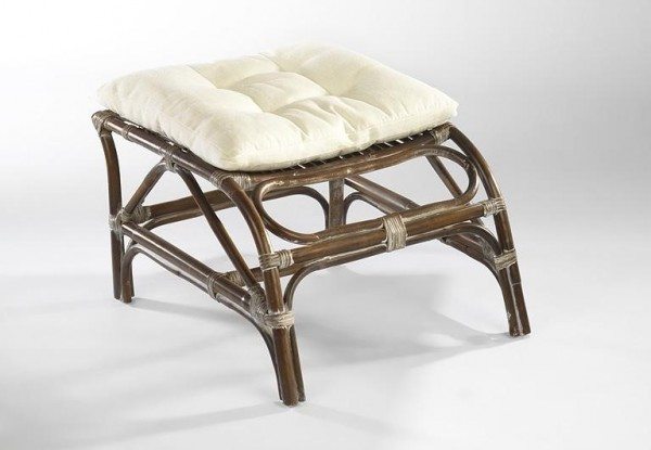 Balagi Kim Hocker - Rattan Antique