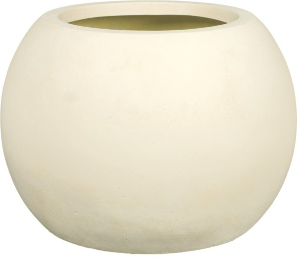 Polystone Globe Pflanzkübel creme 60cm