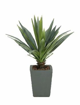 Agave grün-grau 50 cm l Kunstpflanze ohne Topf