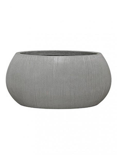 Ella Ridged Grey Pflanzschale oval - Eco Ficonstone