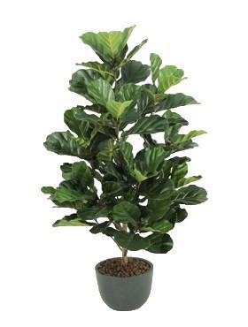 Ficus lyrata Busch 130 cm - Kunstpflanze