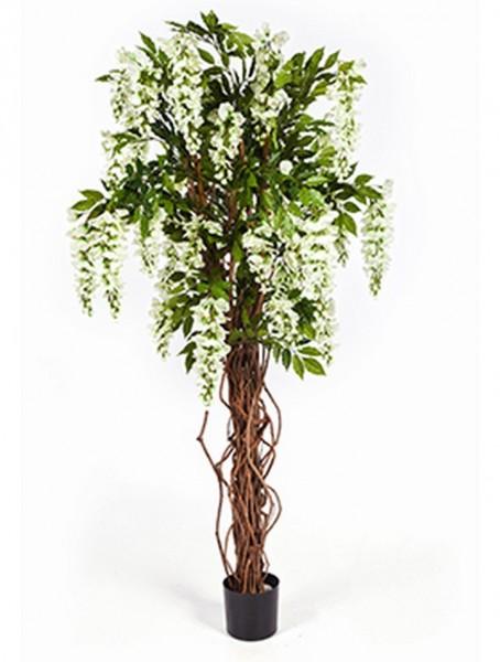 Wisteria liana weiss 180 cm - Kunstbusch
