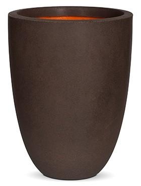 Conic-Pflanzvase-Braun-Kunststoff-Pflanzkuebel-Capi-Touch