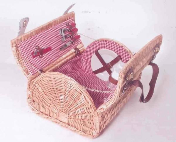 Picknickkoffer Bergland für 4 Personen aus Weide