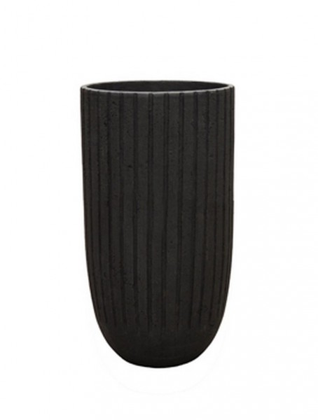 Polystone Lourdee Cylinder Pflanzvase smoke 50 cm