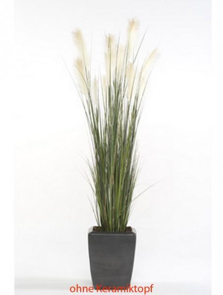 Pampasgras Kunstpflanze im Plastiktopf