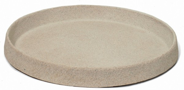 Untersetzer rund für Pflanzkübel | Artline Stone Cream | Die Palme