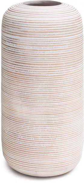Woody Horizon Mangoholz Bodenvasen weiß 40 cm