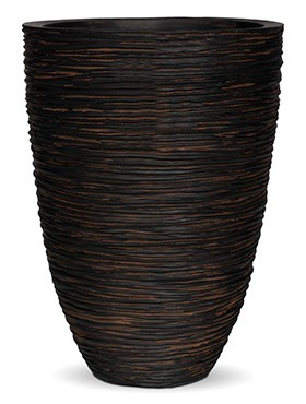 Pflanzkübel Riffel Elegance | Capi Nature Otello braun