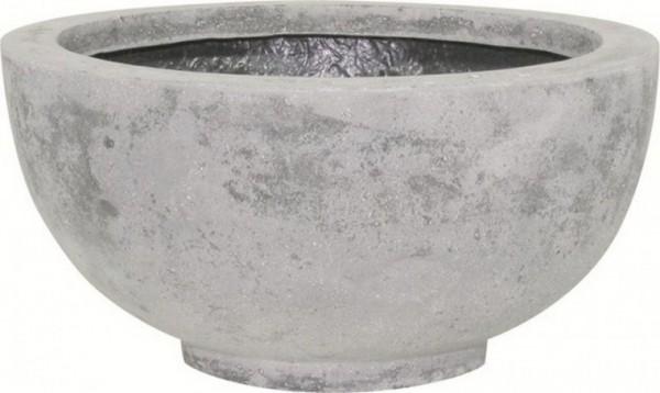 Ego-Plus grey-Polystone-Pflanzschale-grau-fleurami