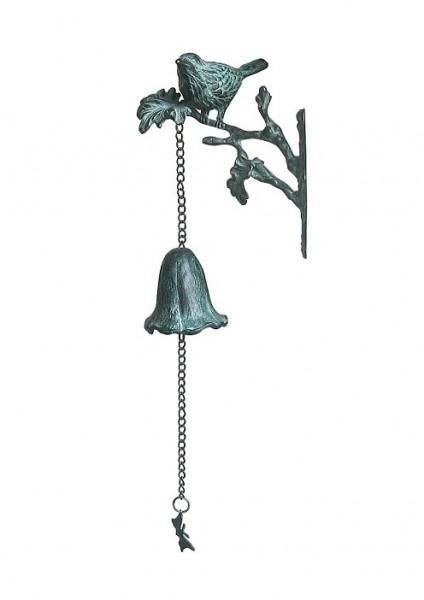 Bronze Glocke | Vogel auf Zweig