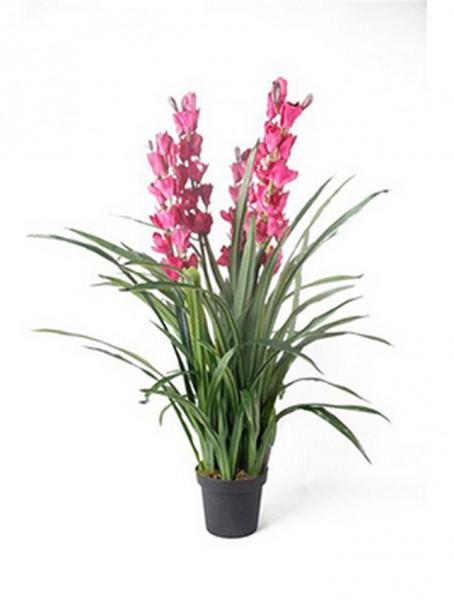 Cymbidium violett 110 cm | Orchideen Kunstpflanze