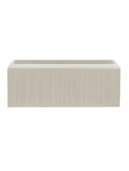 Polystone Rectangle Pflanzgefäß natural 17 cm