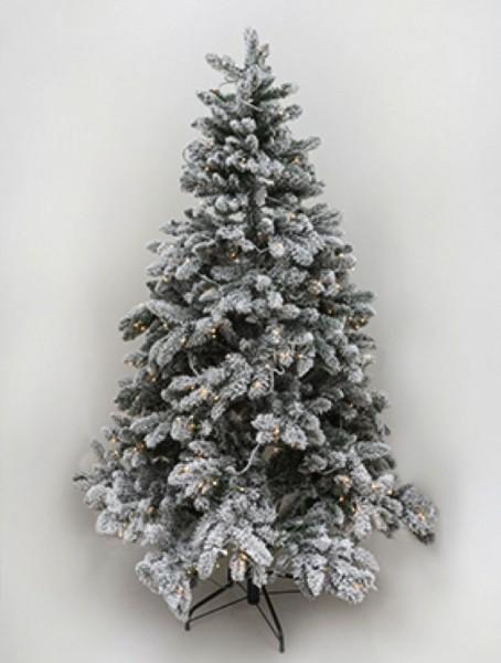 k nstlicher deluxe weihnachtsbaum beschneit mit beleuchtung die palme. Black Bedroom Furniture Sets. Home Design Ideas