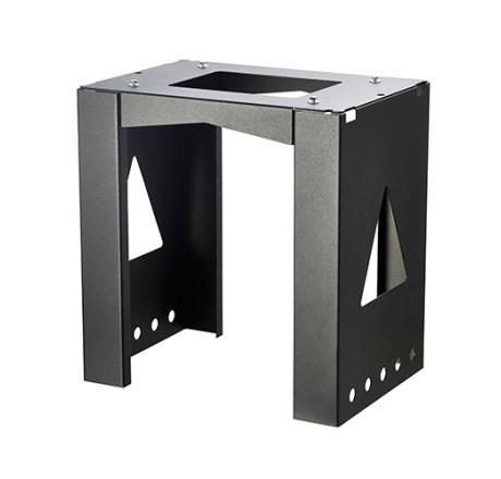 Allux Montage Einheit 8001 schwarz | Stand für Paketkasten