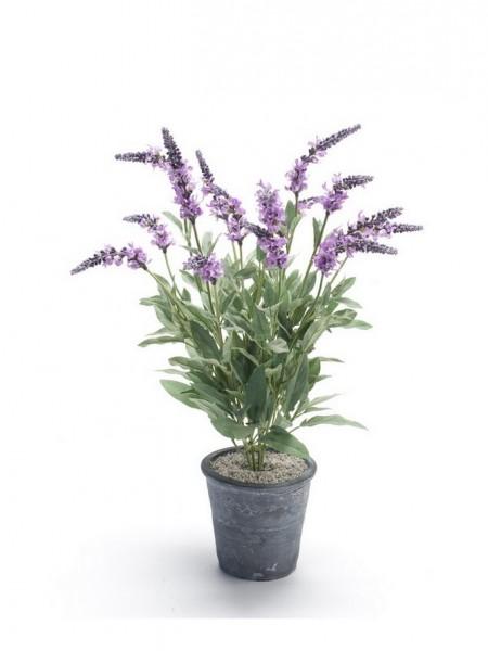 Lavendel Lilac Kunstblumenbusch 48 cm Firetopf