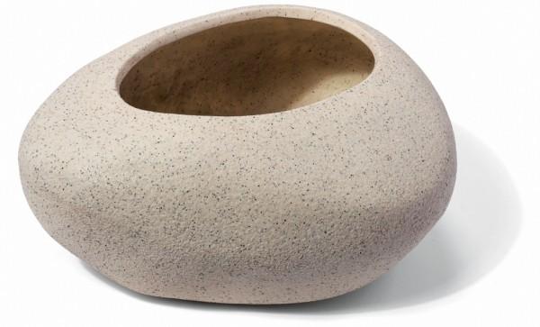Mount Lovty Cream Pflanzkübel Steinform | ArtLine Stone | Die Palme