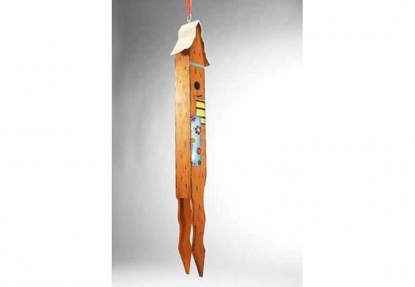 Vogelhaus Baumhaus aus Holz/Metall 95 cm