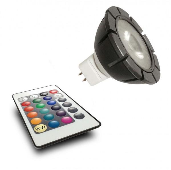 Garden Lights LED RGB POWER MR16 GU5.3 3W + Fernbedinung 12V