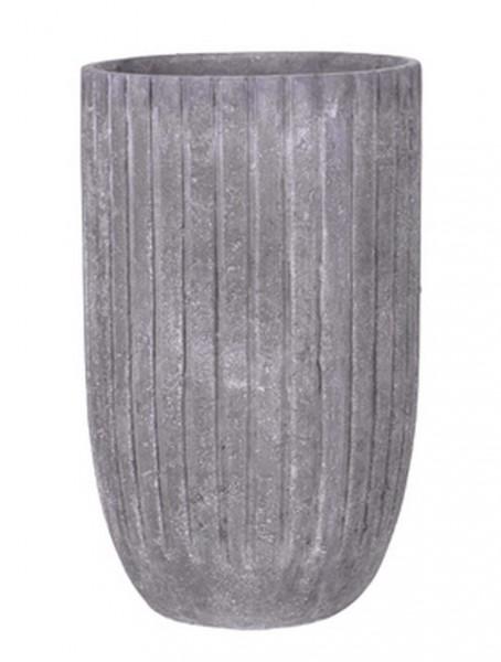 Polystone Lourdee Cylinder Pflanzvase lavagrey 50 cm