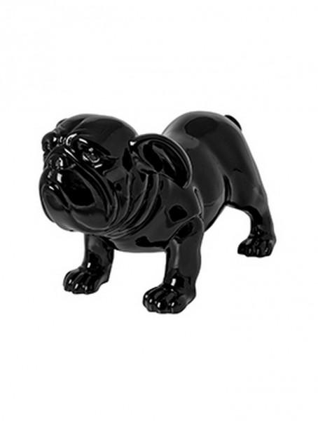 Mops Spike schwarz | Pug ein aus Fiberstone