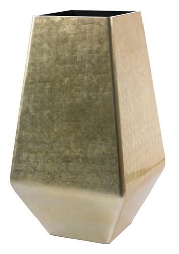 Square-Champagne-Kunststoff-Pflanzvase